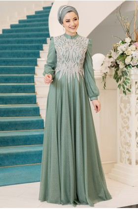 Al Marah Salkım Evening Dress