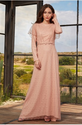 Annahar - İzgi Evening Dress Salmon