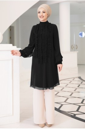 DressLife Eylul Tunic Black