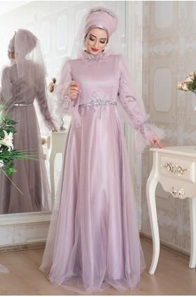 Lefzen Leila Evening Dress Lilac