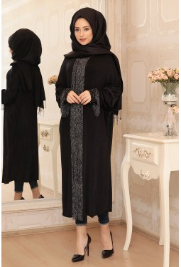 Lefzen -Tasseled Tunic Black