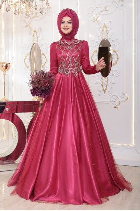 Pınar Şems - Benay Evening Dress Fucshia