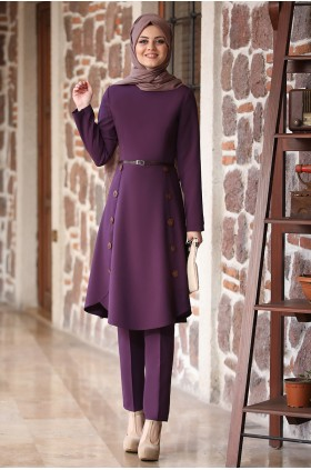 Ahunisa - Azra Suit Purple