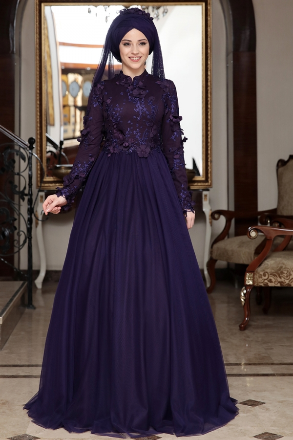 Al-Marah Behrem Evening Dress Purple