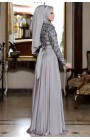 Al-Marah Nisa Evening Dress Grey