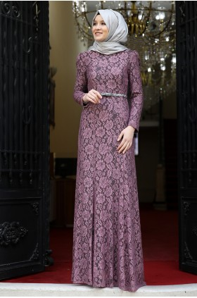 Anmine Hüma  - Hayal Evening Dress Dried Rose