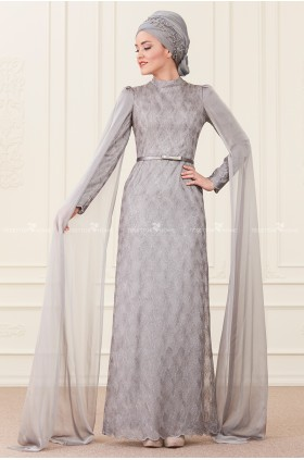 Annahar - Behra Evening Dress Grey