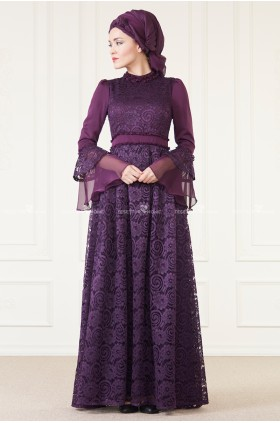 AnNahar - Hare Evening Dress Purple