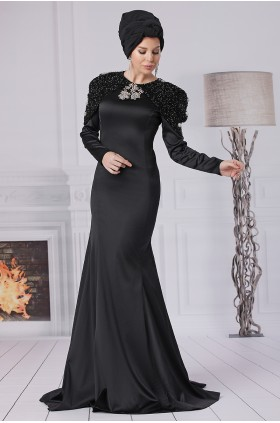Fahrunnisa - Billur Evening Dress Black