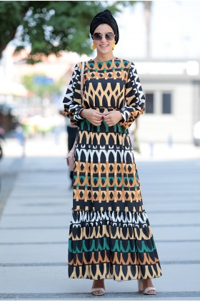 Fahrunnisa - Patterned Dress