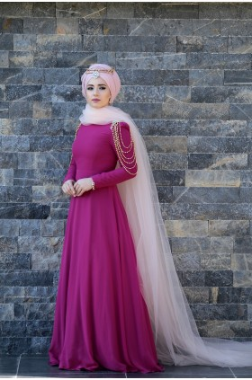 Lefzen - Hifa Evening Dress Fuchsia