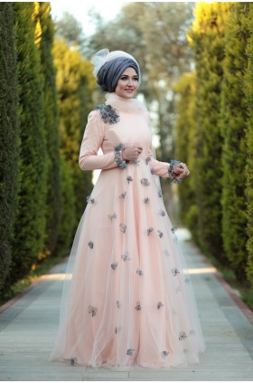Lefzen -  Nisan Evening Dress Salmon
