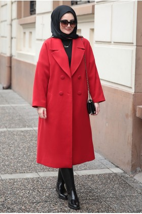 Seda Tiryaki - Aysira Coat Red