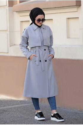 Seda Tiryaki - Lena Trench Coat Gray