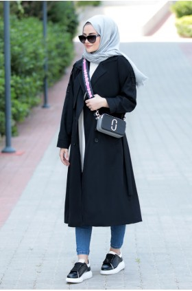 Seda Tiryaki - Lena Trench Coat Black