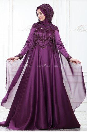 Som Fashion - Asu Evening Dress Damson