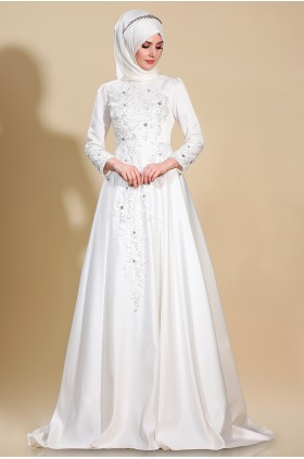 Som Fashion - Lilyum Evening Dress Ecru