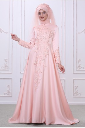 Som Fashion - Lilyum Evening Dress Salmon
