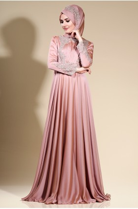 Som Fashion - Mila Evening Dress Dried Rose