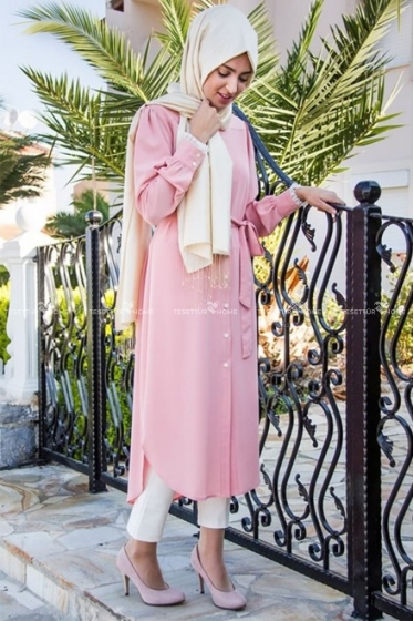 Mine Tunik - Pembe - Som Fashion