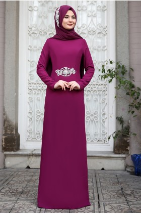 Sümay - Mihrimah Evening Dress Damson