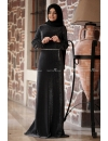 Sümay - Black Kardelen Evening Dress