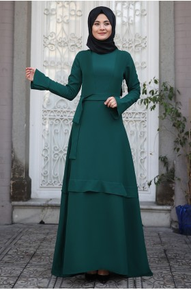 Sümay - Volan Dress Emerald
